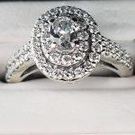 oval engagement ring diamond accents white gold