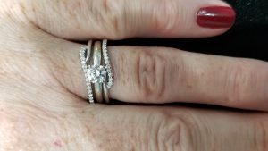 engagement ring with enhancer