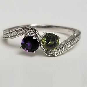 colored gemstone engagement ring