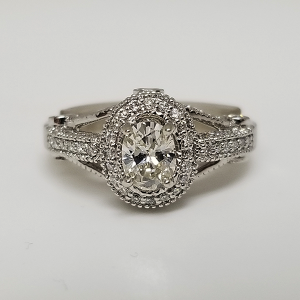 Custom Engagement Ring Oval Diamond Pave