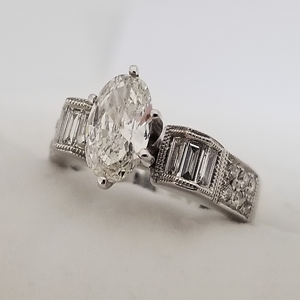 Art Deco Inspired Oval Ring