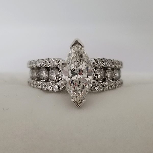 Marquise Center With Diamond Band