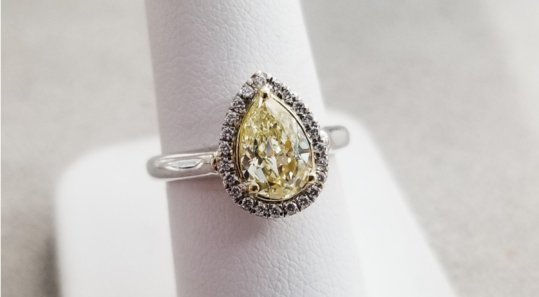 fancy yellow diamonds are part of the 2020 engagement ring trend