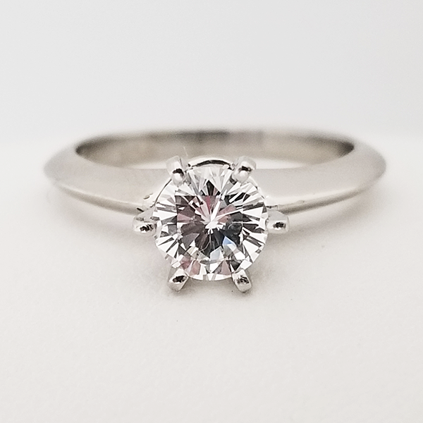 6 prong round solitaire engagement ring